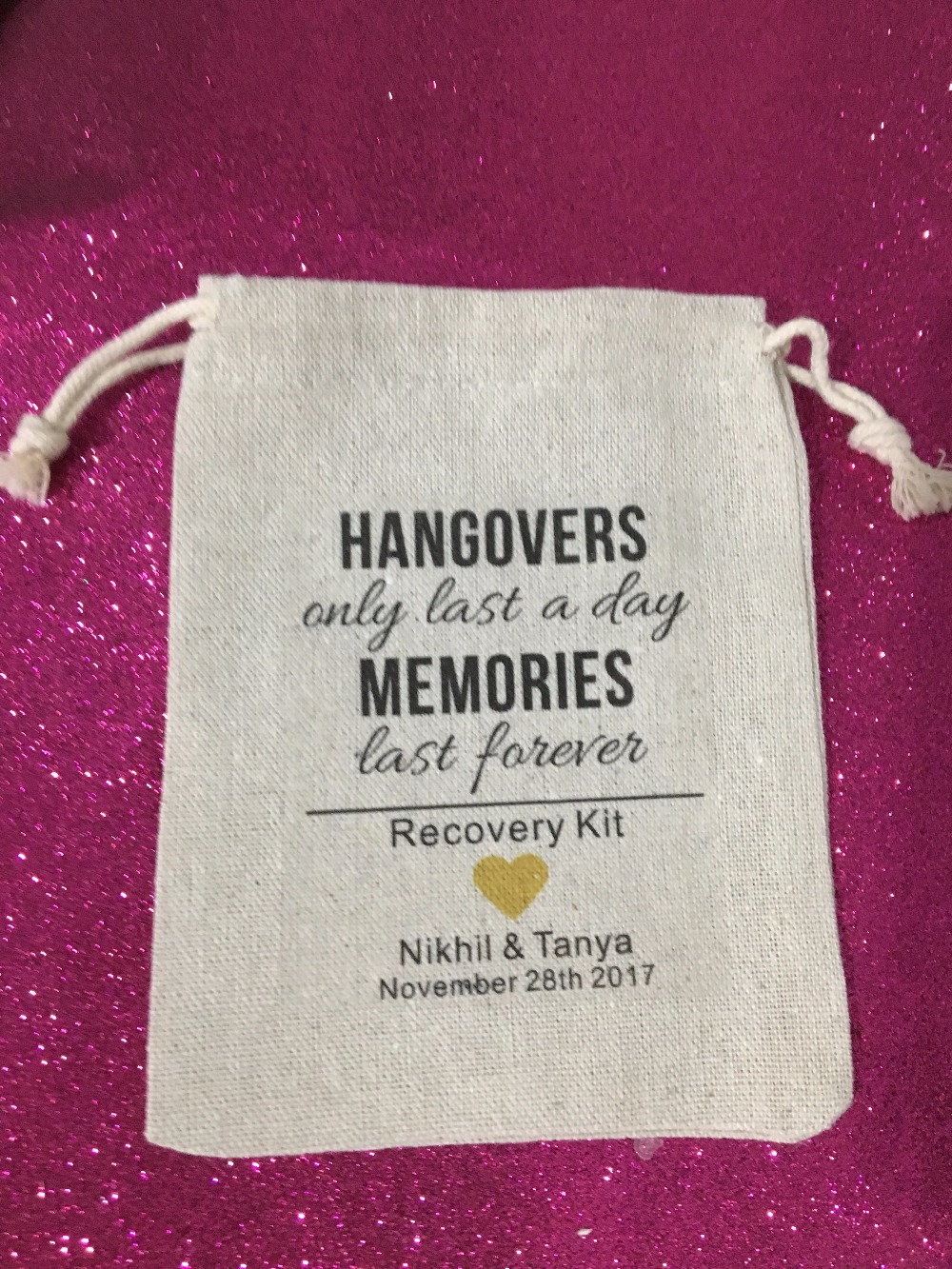 personalized Bachelorette Hangover recovery Survival Kit wedding ...
