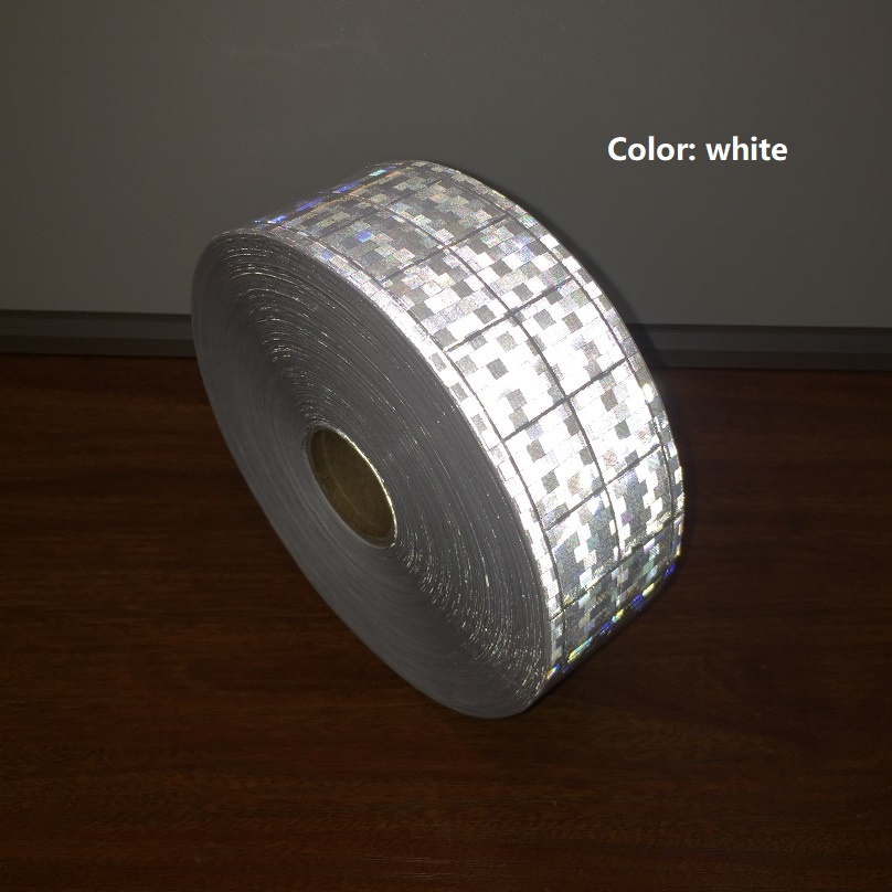 5CM Microprism Reflective Warning Tape Road Traffic Reflective Material Reflective Belt Of Garment Accessories