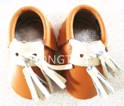 New arrive genuine leather baby moccasins tassel Baby Prewalker Shoes Infant Baby girls boys Soft sole newborn First walkers