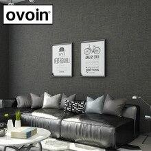 Black Metallic Plain Linen Textured Wallpaper Roll Modern Woven Effect Simple Solid Color Wall Paper Dark Grey