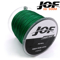 NEW 8STRANDS 500M JOF Brand Super Strong Japan Multifilament PE 8 Braided Fishing Line 15 20