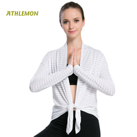 Summer Prevent Sun Cardigan Women Gym Tops Shirt Running Workout Fitness Yoga Clothes Plus Size White Camisas Para Mujer