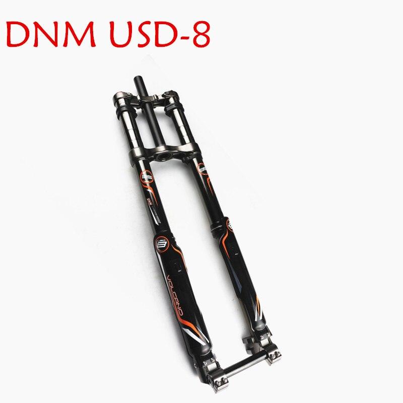 DNM USD-8S descente montagne eBike Suspension pneumatique fourche 203mm 20mm essieu double frein