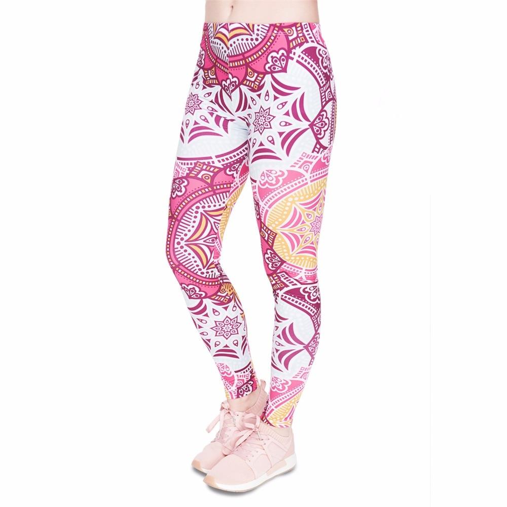 Fitness Legging Mandala Mint Printing Fashion Bottoms Sexy High Waist Leggings Women Pants