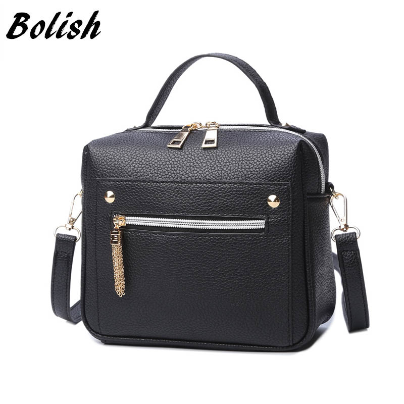 Bolish High Quality PU Leather Women Handbag Small Women Messenger Bag Female Shoulder Bag Fesyen Women Bags