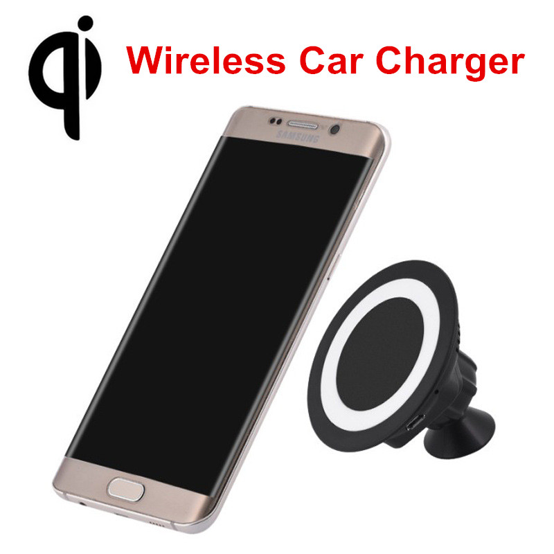 iFavor Car Qi Wireless Charger Sticky Phone Holder Mount