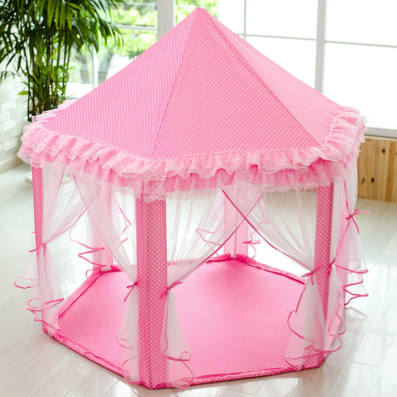 Portable Princess Castle Play Tent Children Activity Fairy House kids Funny Indoor Outdoor Playhouse Beach Tent <font><b>Baby</b></font> playing Toy