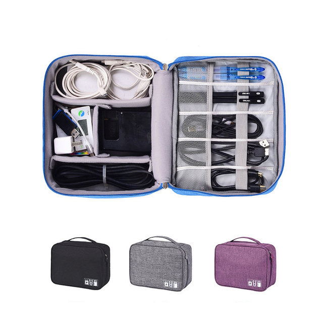 Travel Cable Bag Portable Digital USB Gadget Organizer for Charger Wires 1