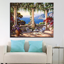Oil Paint Painting By Numbers Diy Lake Pictures Drawing Coloring On Canvas Hand Framework Flower Wall Modular Scene Artwork