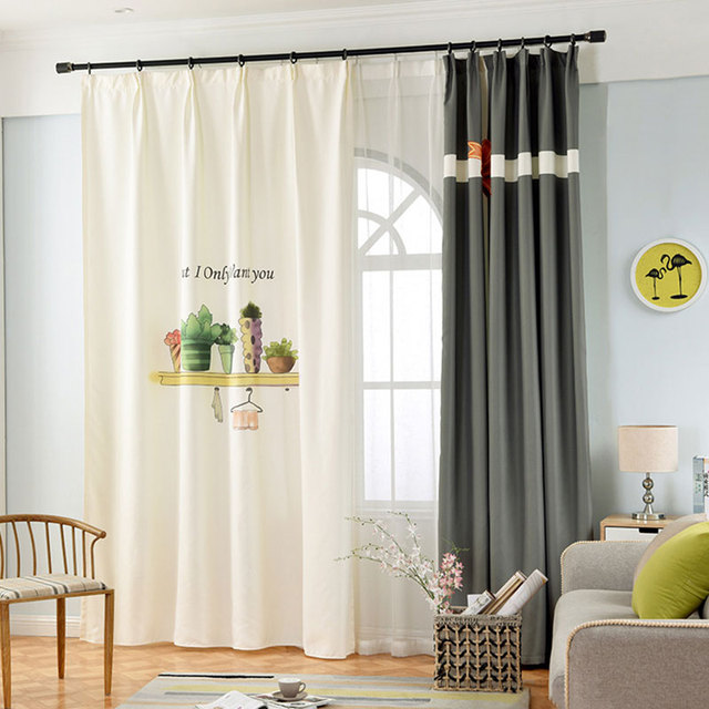 Single Panels Nordic Style 3d Curtains For Living Room Window ...