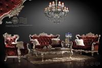 Гостиная диван setreal из натуральной коровьей кожи секционные 1 + 2 + 3 местный + таблица неоклассической muebles де sala moveis para casa