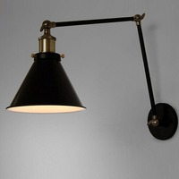E27 Vintage Industrial Wall Lamp Loft Creative Swing Arm Sconce Balcony Stair Porch Restaurant Bar Bedroom