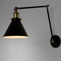 E27 Vintage Industrial Wall Lamp Loft Creative Swing Arm Sconce Balcony Stair Porch Restaurant Bar Bedroom