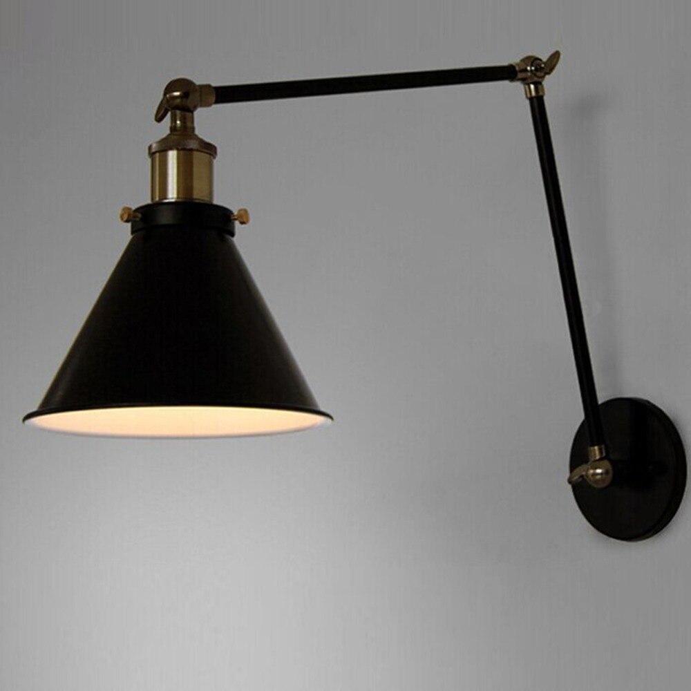 E27 Vintage Industrial Wall Lamp Loft Creative Swing Arm <font><b>Sconce</b></font> Balcony Stair Porch Restaurant Bar Bedroom Wall Light Home Light