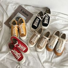 Купить с кэшбэком 2018 spring new canvas shoes couple casual shoes Harajuku skateboard shoes.