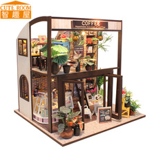 DIY Wooden House Miniaturas with Furniture DIY Miniature House Dollhouse Toys for Children Birthday and Christmas Gift M27