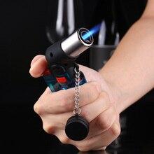 где купить Mini Butane Jet Torch Cigarette Windproof Lighter Plastic Fire Ignition Burner For Outdoor Camping Picnic BBQ Welding Equipment дешево