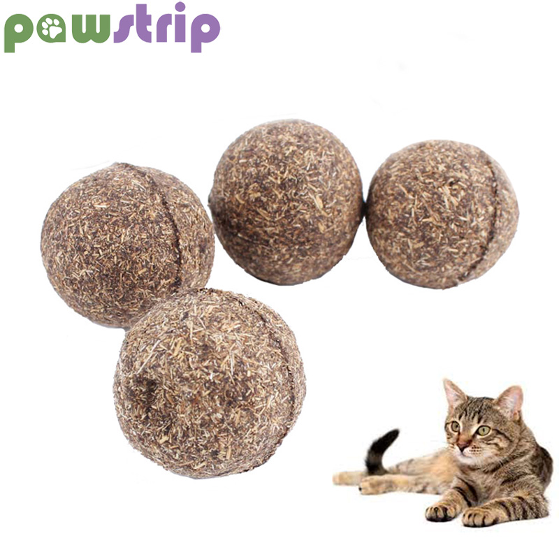 Pawstrip 1pc Catnip Cat Toys Diameter 3cm Catnip Ball Safety Healthy Pet Cat Treats