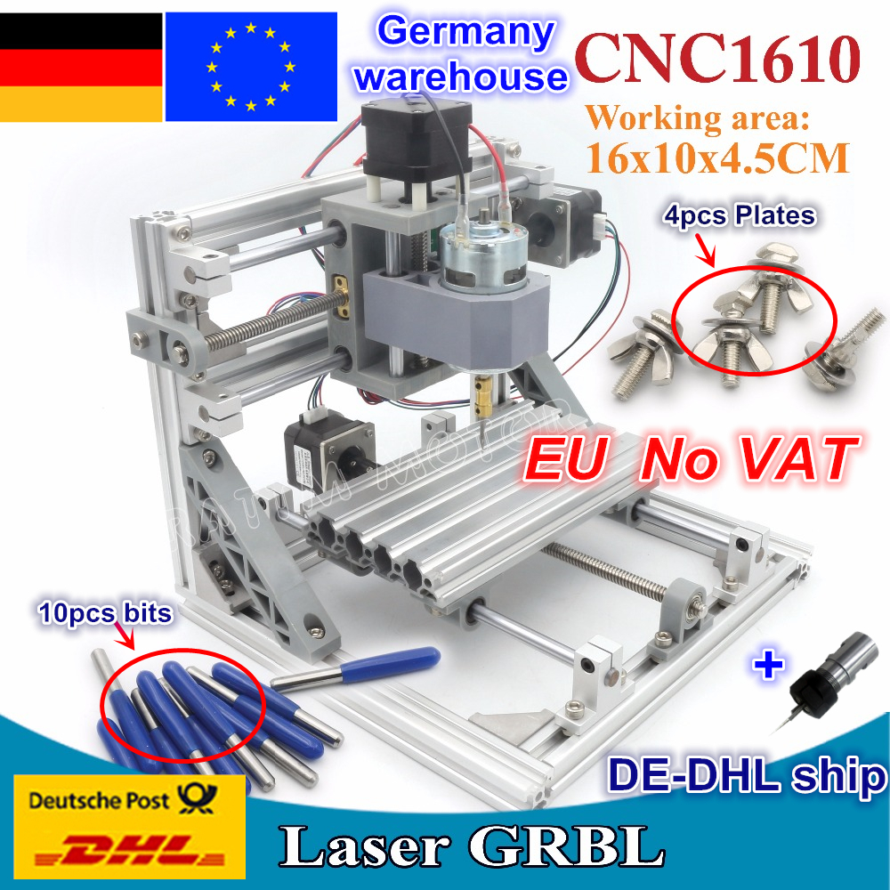 DE ship 1610 GRBL control DIY mini CNC machine working area 160x100x45mm 3 Axis Pcb Milling machine,Wood Router,cnc router v2.4 hands free universal 1 din single 1 best price car dvd player cd usb sd fm auxin bluetooth auto radio mp3 stereo audio charging