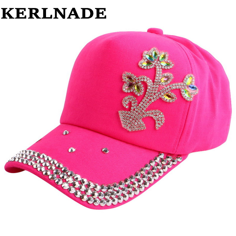 9cb754d635839a Best buy 2015 Crystal Bling Kids Baseball Caps Baby Hats Caps Flower  Children Snapback Summer Cotton Cap Baby Boys Girls Peaked Sun cap online  cheap