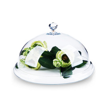 Highly Transparent Acrylic Food Cover Fresh Snack Display Domes Cake