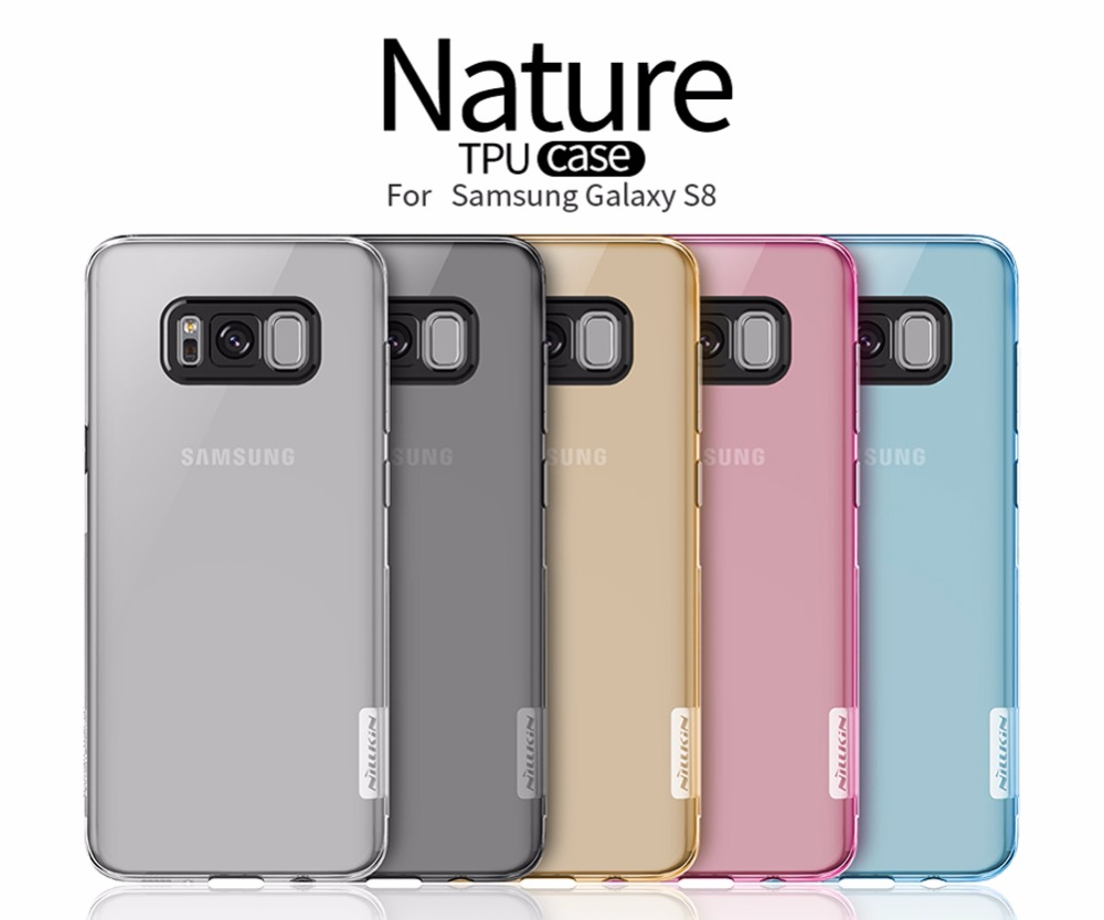 imágenes para 10 unids/lote Naturaleza Al Por Mayor de NILLKIN Ultra Thin Transparente Caso de TPU Para Samsung Galaxy S8 (5.8 pulgadas) TPU Duro Contraportada Suave