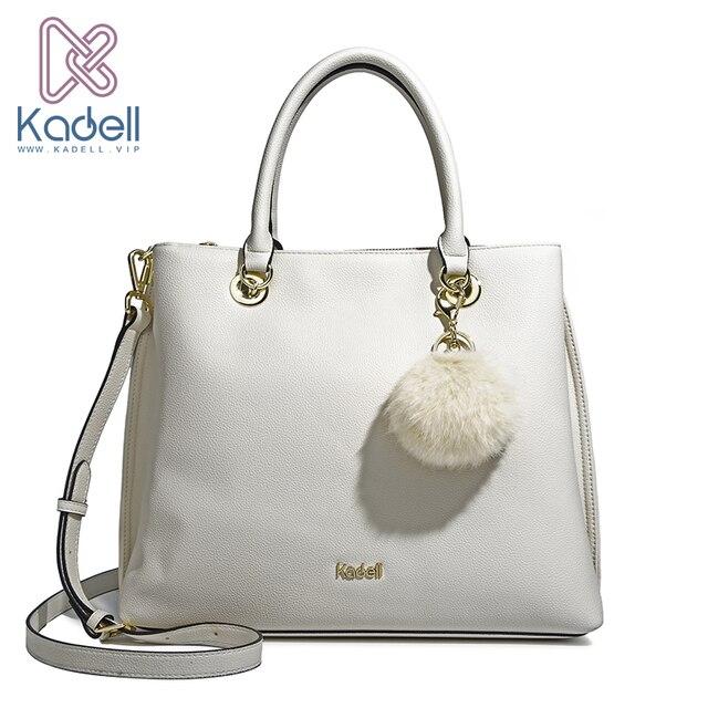 Kadell Новое поступление из мягкой кожи большой Ёмкость Повседневное Для женщин Сумки Для женщин известных брендов модные сумка Мех животных сумка