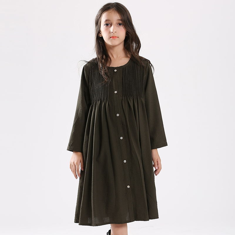Girls Dress Simple Design Chiffon Black Dresses Frocks for Teenage Formal Casual Loose Style Age5678910 11 12 13 14 Years old hayden girls boho ethnic dress designs teenage girls national embroidered dresses flare sleeve loose fit dress for 7 to 14 years