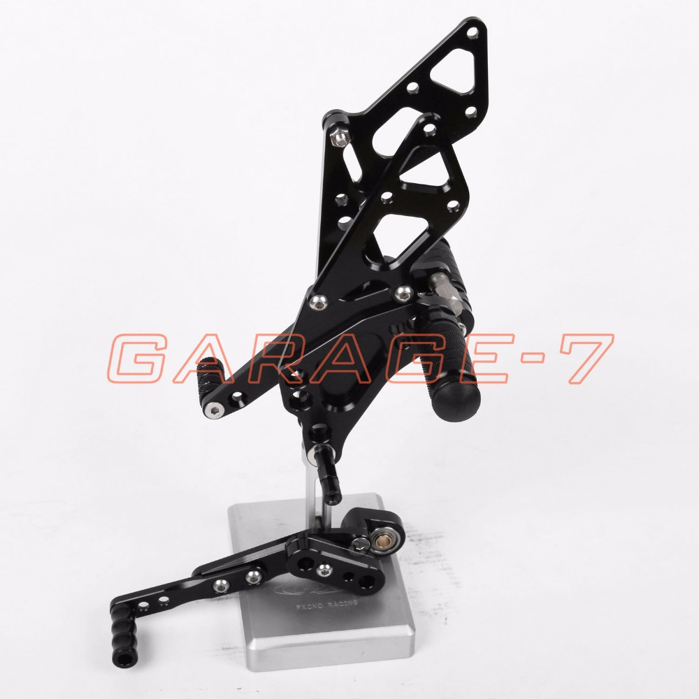 Rearsets Foot Pegs Rear Set Black Color For Suzuki GSXR 1000 2009-2014 2013 2012 Hot Sale High Quality Motorcycle Accessory CNC