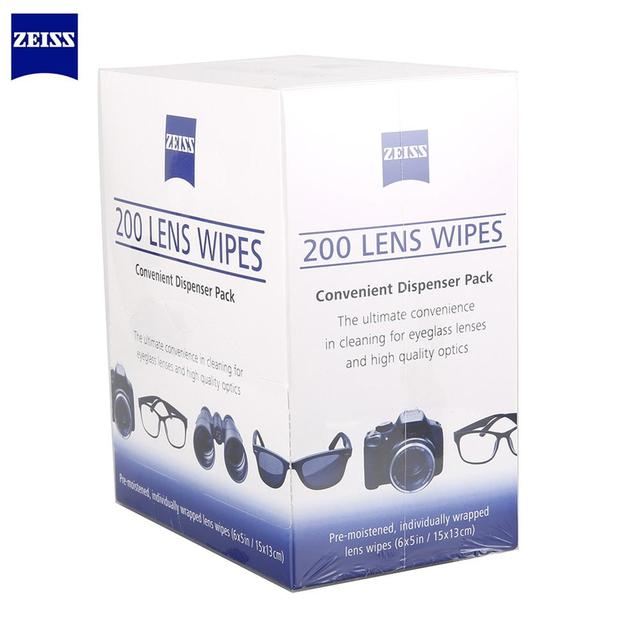 Pre Moistened Zeiss Anti Fog Bacteria Germs No Steaks for Mobile Phone Eyeglasses Cloth Camera Cleaner Lens Wipes 200pcs