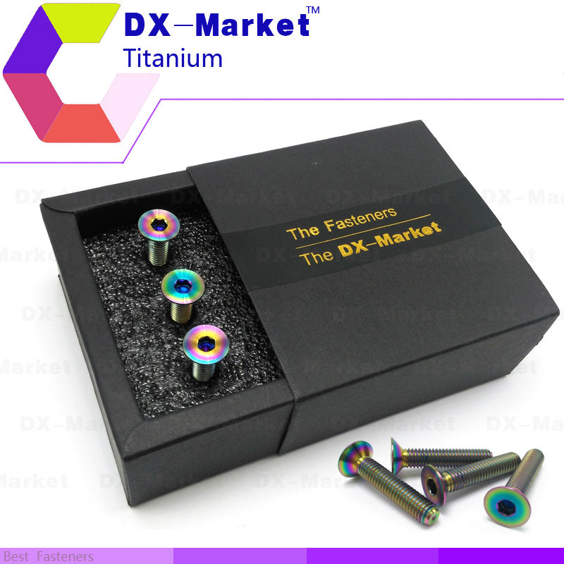 m6*30 , 6pcs/set , AB color , m6 Titanium Hexagon Flat head screw , High quality m6 Conical head anti rust bolt сервер lenovo x3250 m6 3943e6g