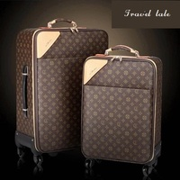 Travel tale classic high quality 16/18/20/22/24 Inch PVC durable Rolling Luggage Spinner brand business Travel Suitcase