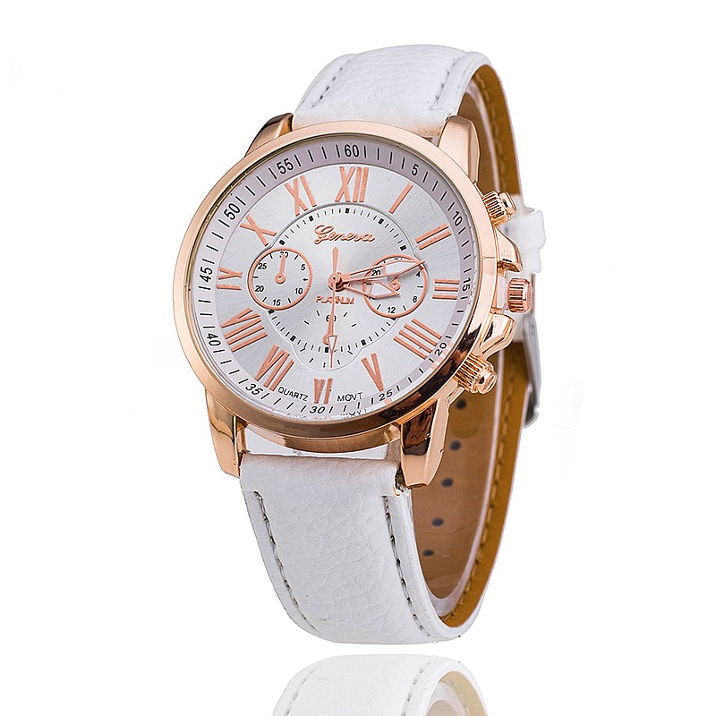 100pcs lot 3888 Super Seller GENEVA Brand Ladies Casual Watch Fashion Roman Style Dress Leather Watch