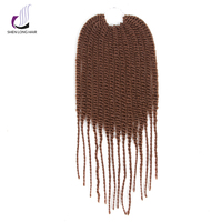 ShenLong Hair Black Women 15strands Pack Low Temperature Curly Kanekalon Synthetic Crochet Braids Hair Extension