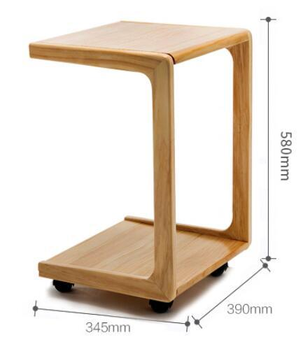 580*390*345MM Mobile Mini Coffee Table Balcony Tea Table Modern Bedside  Table Sofa Side Corner Table With Wheels In Coffee Tables From Furniture On  ...