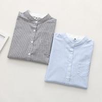 Women Blouses Shirt Female Cotton 2017 New Spring Autumn Stripe Long Sleeve Shirts Women Tops Ladies Clothing S-XL