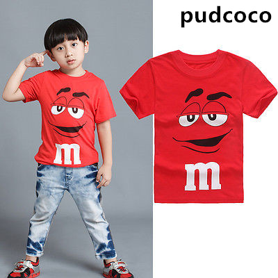 T-Shirt Toddler Top Short-Sleeve Baby-Boys Kids Boy Cartoon Children Summer Casual Red