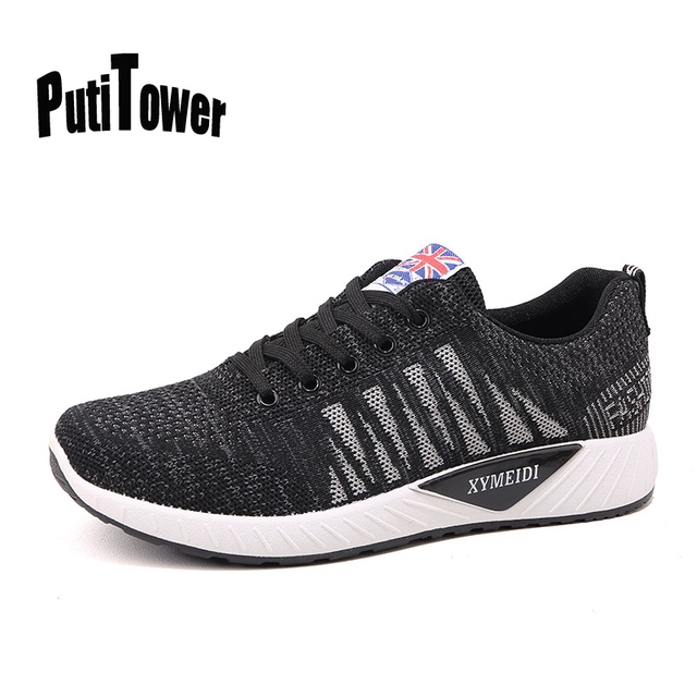 finest selection c7315 e10ba Men Running Shoes Flyknit Racer Professional Sneakers Comfortable Trainers  Outdoor Sports Chaussure Homme Sapato Masculino