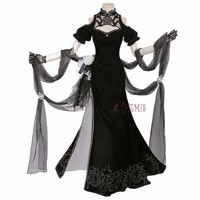 Athemis Nier Automata 2B Cosplay Costumes Cheongsam Dress Nier Automata Type High Quality Custom Made