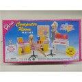 Миниатюрная Мебель Компьютерный Зал для Куклы Барби Дом Разыгрывает спектакли Игрушки для Девочки Бесплатная Доставка
