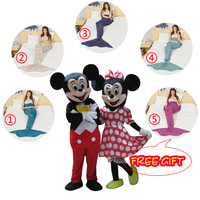Mouse mascot costumes for Adult size for Halloween party Couple Mouse Mascot Costume Fancy Party Dress Free gift mermaid blanket