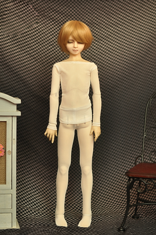 BJD white shirts V-neck shirt Vertical stripe for 1//4 1//3 BJD SD Uncle doll size