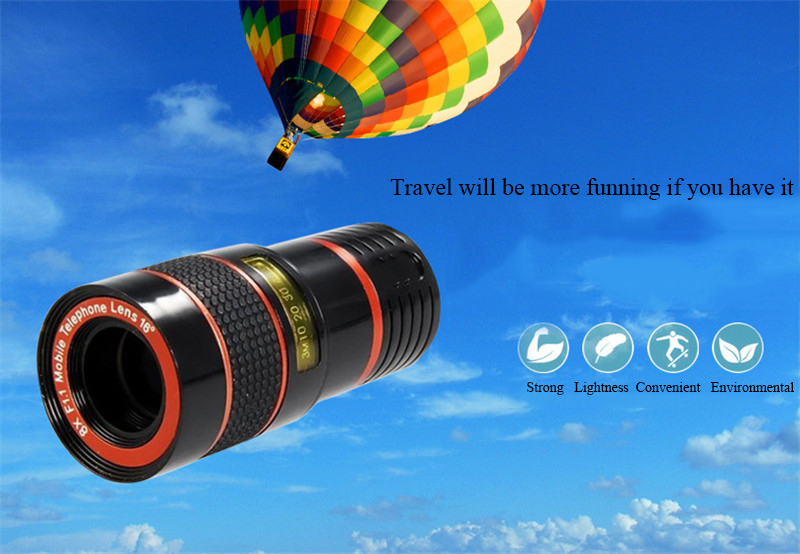 High-Definition Universal 8x telephoto telescopic camera lens For iPhone 6 6s Plus 5S SE 7 7Plus/Samsung Galaxy S6 S7 Edge Plus 1