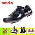 Обувь для шоссейного велосипеда BOODUN  обувь для велоспорта  SPD-SL  педали  самоблокирующаяся  sapatilha ciclismo bicicleta  Спортивная  сверхлегкая обувь  2019