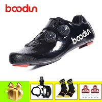 BOODUN road bike shoes 2019 pro cycling shoes SPD-SL pedals self-locking sapatilha ciclismo bicicleta Athletic Ultralight shoes