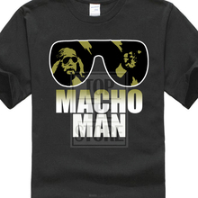 ba816bc2 Funny personality T Shirts Fashion Macho Man Randy Savage Sunglasses Logo  Wrestling Printed Tops Cool Short