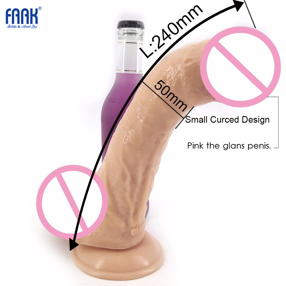 23cm*5cm Huge Dildo Realistic Dildo Super Long Big Penis Female Adult Gay Lesbian Masturbation Suction Cup Women sex Product
