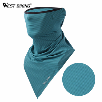 WEST BIKING Summer Cycling Face Mask Triangle Bicycle Bandana Breathable Bike Scarf Anti-UV Ski Silk Running Sport Facemask