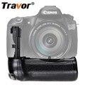 Travor dikey pil yuvası Tutucu için Canon 60D 60Da DSLR Kamera Yedek BG-E9 çalışma ile LP-E6 pil