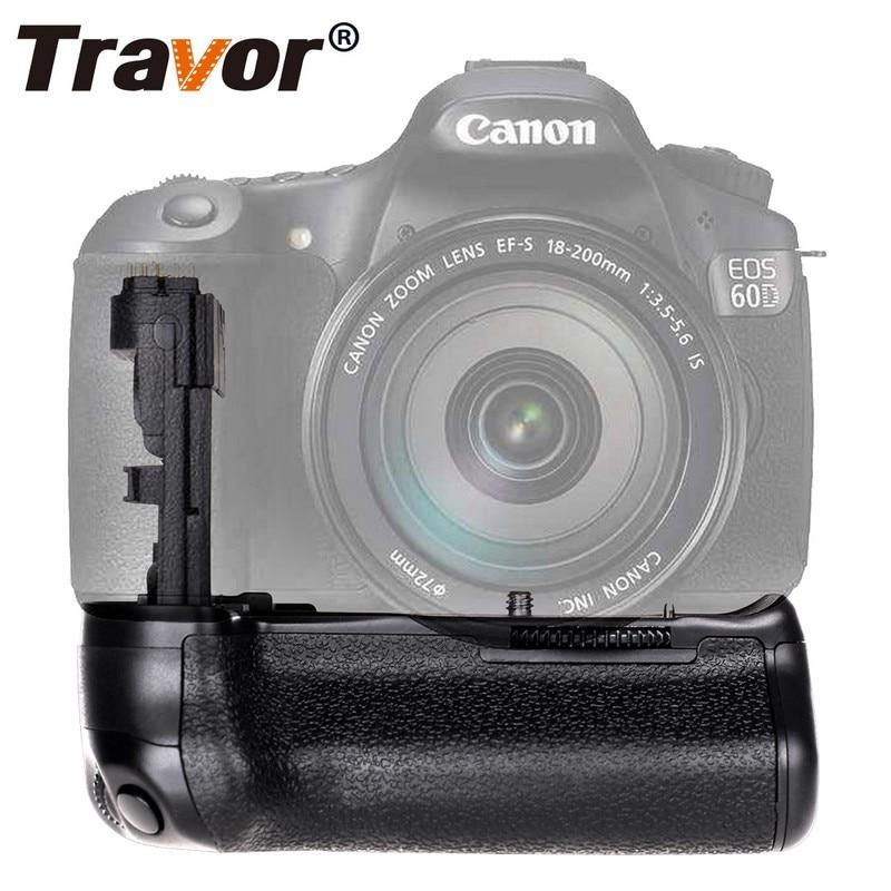 Suporte de Aperto da Bateria para Canon Trabalho com Lp-e6 Travor Vertical Dslr Câmera Substituição Bg-e9 Bateria 60d 60da